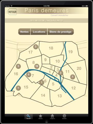 Paris demeures version iPad