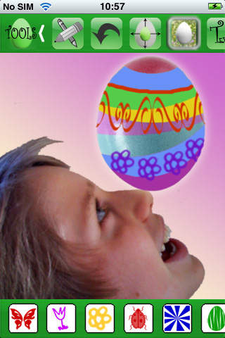 Easter: Paint your Egg: relax style and send as iCard