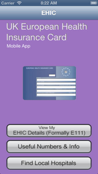 European Health Insurance Card Mobile App