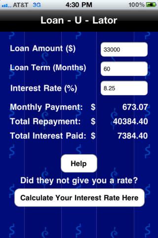 Loan-U-Lator iPhone Screenshot 3