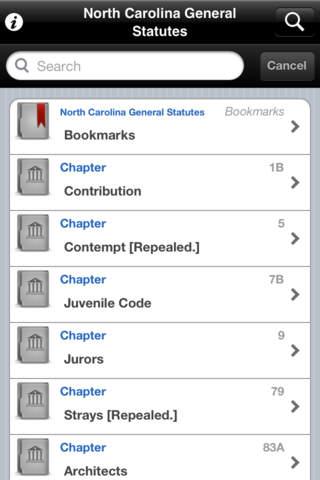 North Carolina General Statutes NC state Laws Codes