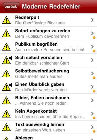 RedeApp - Endlich richtig Reden iPhone Screenshot 4
