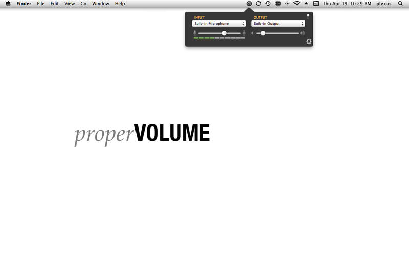 properVOLUME for Mac
