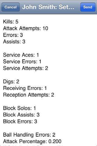 iPS Volleyball Stats iPhone Screenshot 2