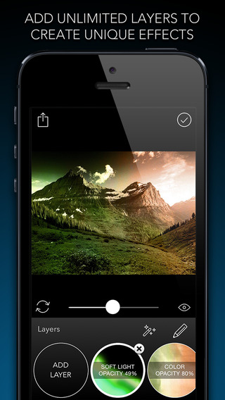 Layered - Powerful photo editor add texture layers to create stunning effects