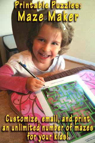 Printable Puzzles: Maze Maker