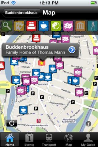 Lübeck Travel Guide Offline iPhone Screenshot 4