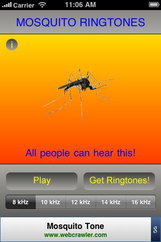Mosquito Ringtones iPhone Screenshot 3