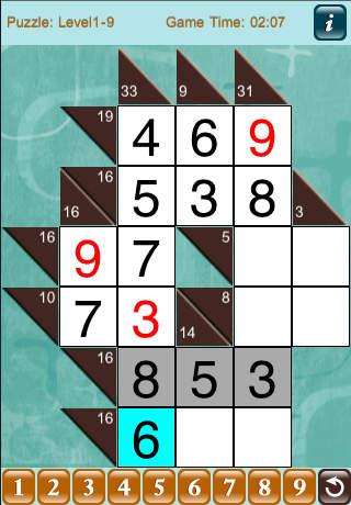 CrossSums Lite iPhone Screenshot 1
