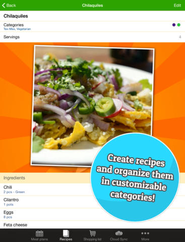The Food Planner - Meal and grocery planning made easy screenshot