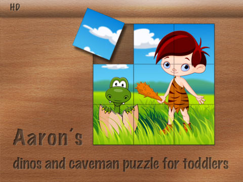 Aaron's dinos and caveman puzzle for toddlers