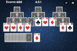 Tri peaks solitaire full screen