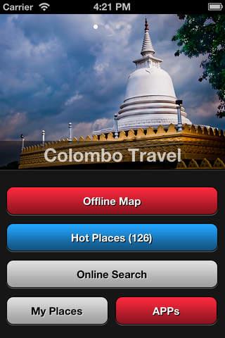 Colombo Travel Map Sri Lanka