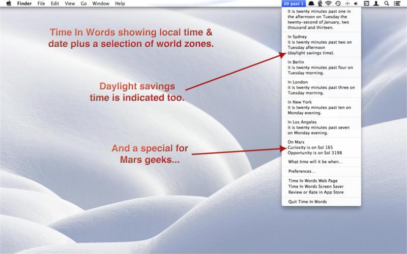 Time In Words Screenshot - 3