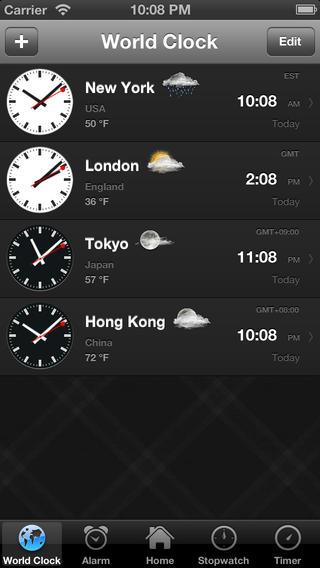 Classic Clock free (Blackground Alarm + Weather) iPhone Screenshot 2