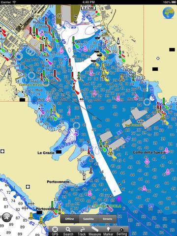 Parco dei Cetacei Mar Ligure HD - GPS Map Navigator