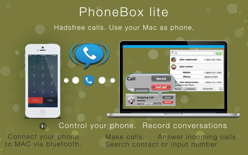 免提通话 PhoneBox lite for Mac