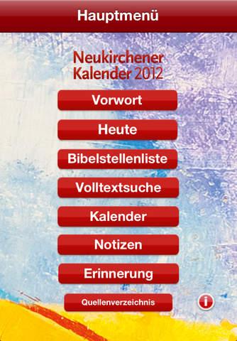 Neukirchener Kalender 2012