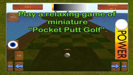 口袋推杆迷你高尔夫球场 - 免费的3D迷你高尔夫球场