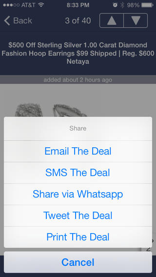 Push The Deals iPhone Screenshot 5
