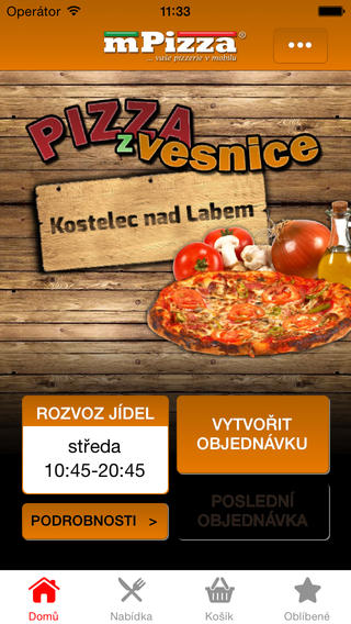 Pizza z vesnice Kostelec nad Labem