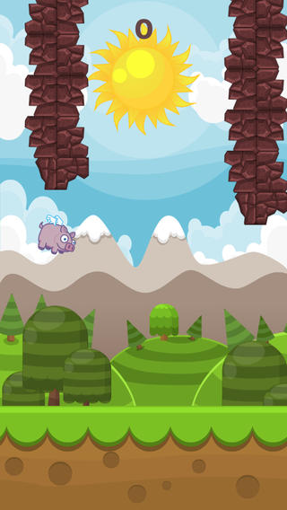 Tap the Pig: a Flappy Adventure: the little cute pig that flies like a bird flapping its tiny wings iPhone Screenshot 4