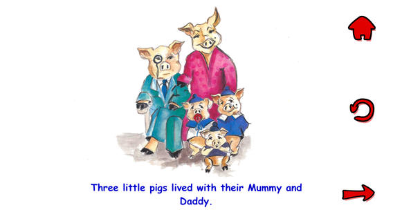 The 3 little pigs in a few words