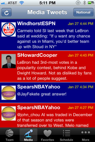 Hoops Zone - Twitter for Basketball Fans iPhone Screenshot 3