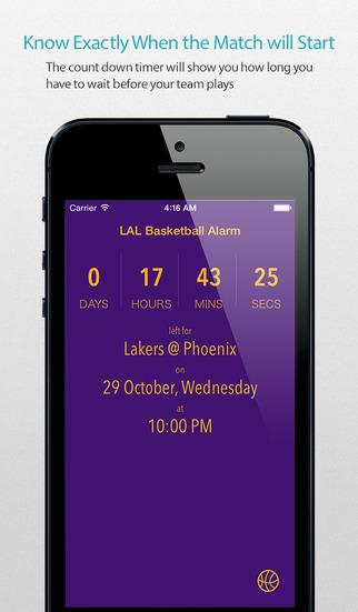 LAL Basketball Alarm Pro