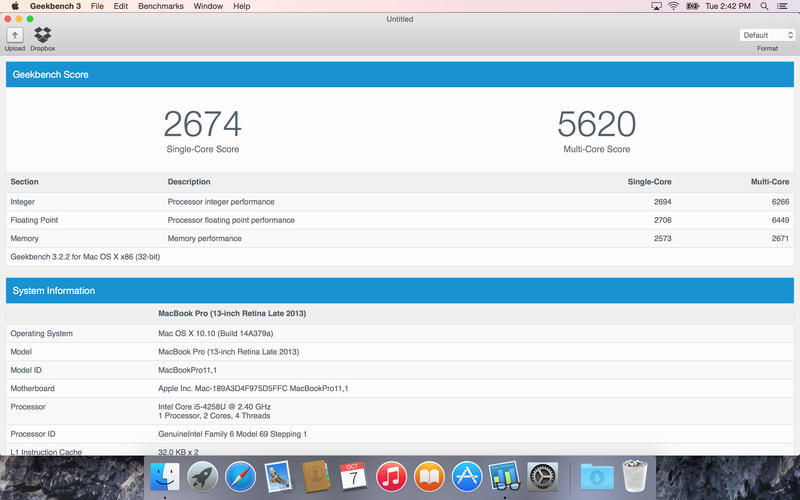 Geekbench 3 mac os
