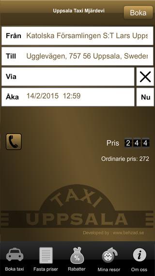 Taxi Mjärdevi
