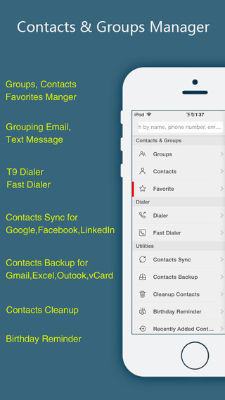 JWContacts+ - Smart Contacts and Groups Manager with Contacts Sync Backup and Cleaner Tools
