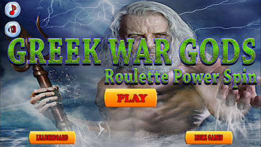 Greek War Gods Roulette Power Spin Free Game