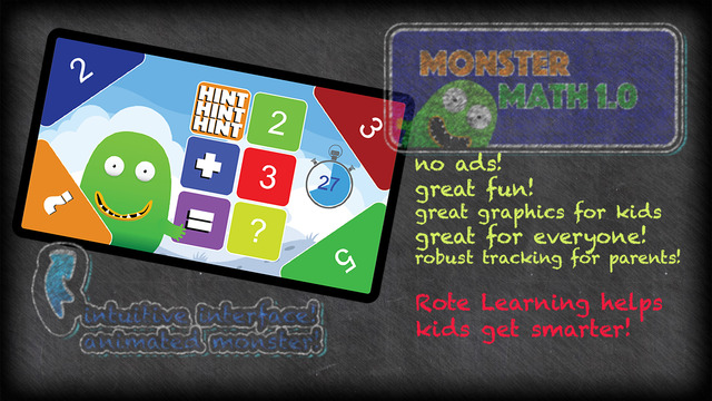 Monster Math Addition For Kids K-4