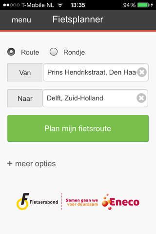 Routeplanner screenshot 1