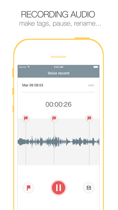 Voice Recorder Free - Record Audio Memos, Sound Recording.s & Records Playback screenshot