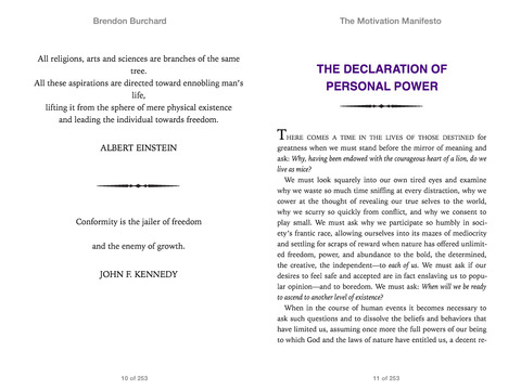 The Motivation Manifesto by Brendon Burchard on iBooks