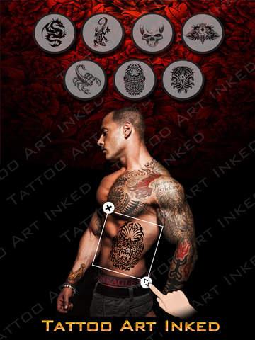 Inked Tattoo Studio HD - A Selfie Photo Editor Tool to Try Artist Tattoo on Yr Body screenshot