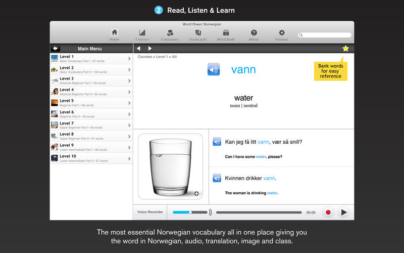 WordPower Learn Norwegian Vocabulary by InnovativeLanguage.com for Mac