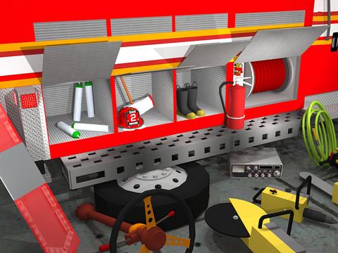 Fix My Truck: Red Fire Engine screenshot 2