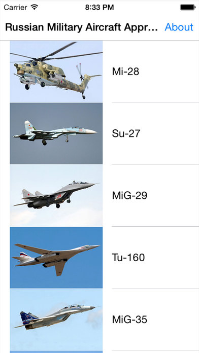Russian Military Aircraft Appreciate Guide For iPhone iPhone Screenshot 1