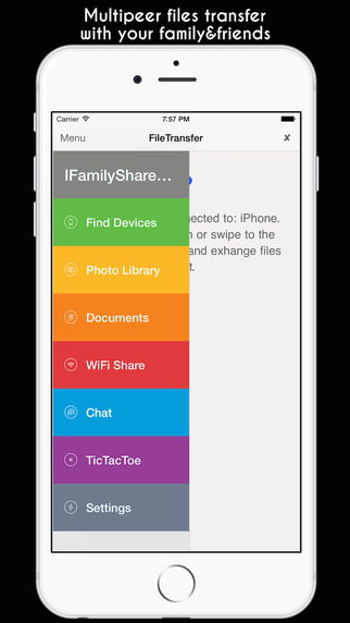 File Transfer iFamily - Files Photo Video Documents + WiFi Share