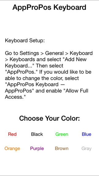 AppProPos Keyboard