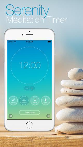 Serenity: Meditation Timer for Mindfulness Pilates Zazen Reiki and more