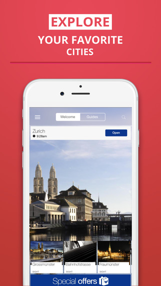 Zurich - your travel guide with offline maps from tripwolf guide for sights restaurants and hotels
