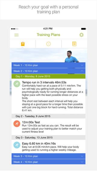 Endomondo - Твой личный тренер по бегу, велоспорту, ходьбе и фитнесу, использующий GPS Screenshot