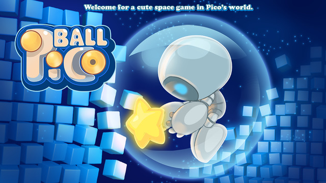 Pico Ball: Robot space adventure bounce action collecting twinkle stars