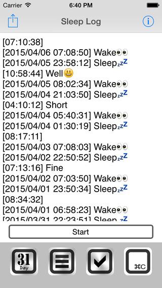 Sleep Log Free