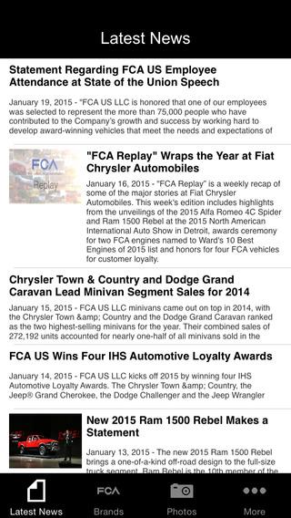 FCA US Media Site App