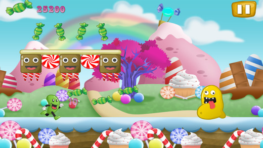 Jelly-Bean Run-ner Flop and Jump Candy Land Escape